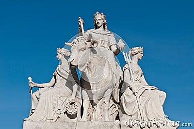 Europe statue in Albert Memorial