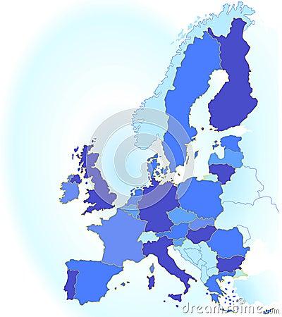 Europe union map