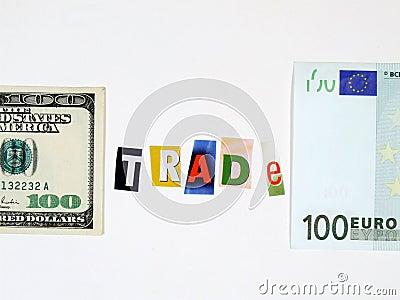 Europe and USA trade concept