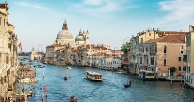 Europe. Venice. Italy. A view of the Basilica and the Grand canal timelapse in 4K.  stock footage