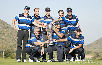 Europe Wins Royal Trophy Editorial Stock Image