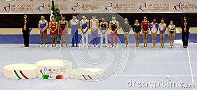 European Artistic Gymnastic Championships 2009 Editorial Image