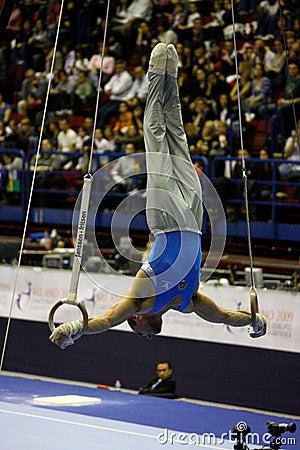 European Artistic Gymnastic Championships 2009 Editorial Stock Image