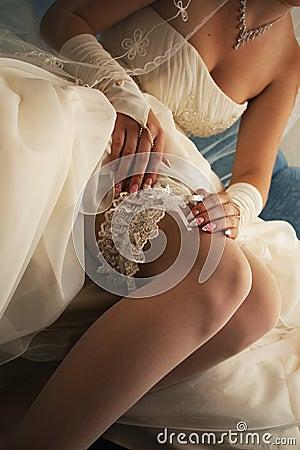 European bride s garter