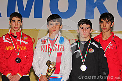 2014 European cadet wrestling championship Editorial Photography