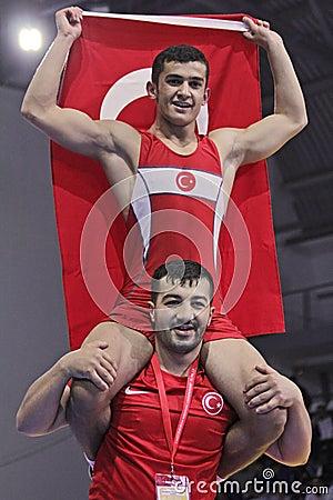 2014 European cadet wrestling championship Editorial Photo