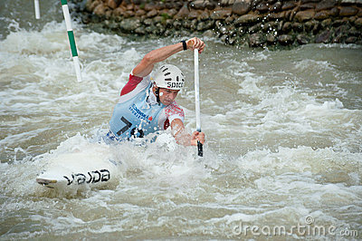 European Canoe Slalom Championships, Cunovo (SVK) Editorial Photo