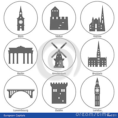 European Capitals - Icon Set (Part 2)