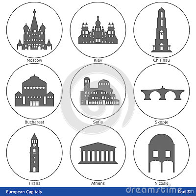 European Capitals - Icon Set (Part 5)