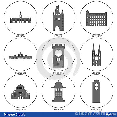 European Capitals - Icon Set (Part 4)