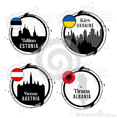 European capitals stamps