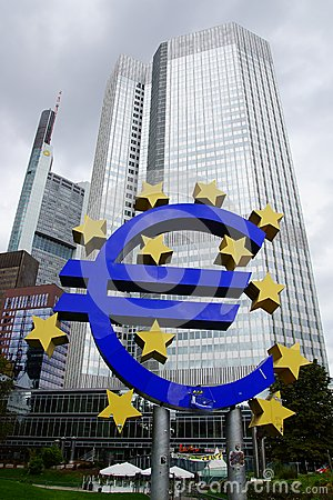European Central Bank. Editorial Stock Photo