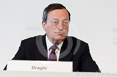 European Central Bank President Mario Draghi Editorial Image
