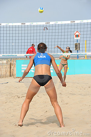 Free European Championship Beach Volleyball For Women Stock Images - 4842024