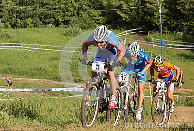 European Championships in mountain bike Editorial Image