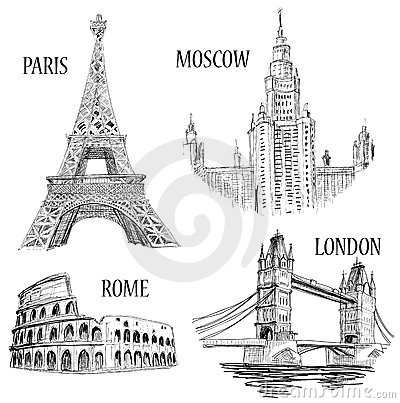 European cities symbols