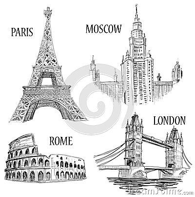 Free European Cities Symbols Stock Image - 19165981