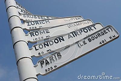 European City Air Travel Sign