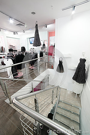 More similar stock images of ` European clothing store with huge