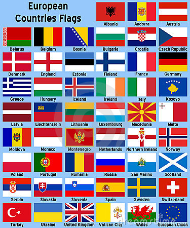 Free European Countries Flags Royalty Free Stock Photography - 5505687