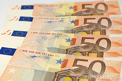 European currency close up