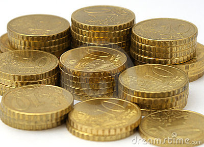 European currency coins