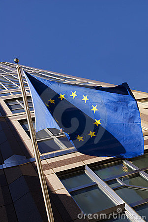 Free European Flag At United Nations Building Royalty Free Stock Images - 1931549