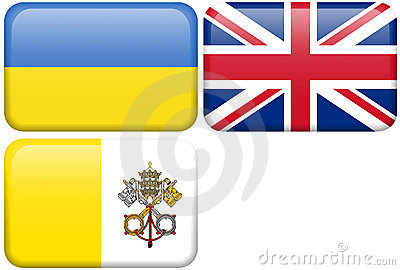 European Flag Buttons: UKR, UK, VAT