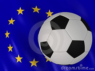 European flag and football