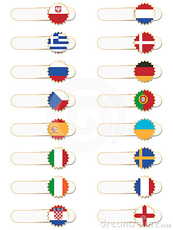 European flag tabs