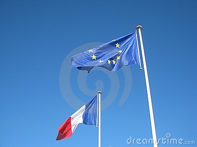 European and French banners