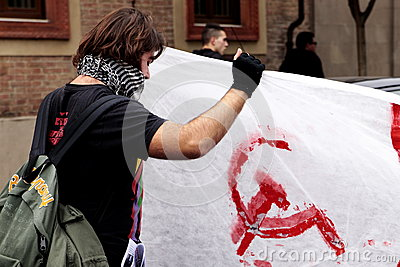 European General Strike Editorial Stock Image