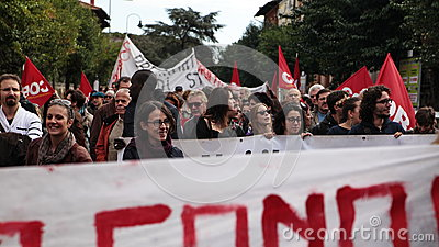 European General Strike Editorial Photo