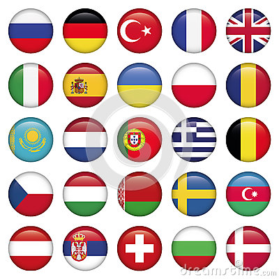 Free European Icons Round Flags Stock Images - 31062154