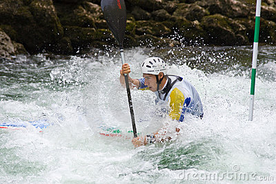 European Junior and U23 Canoe Slalom Championship Editorial Stock Image