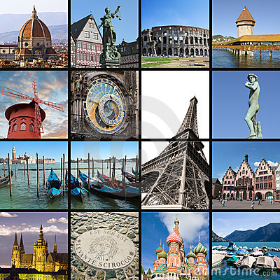Free European Landmarks Collage Royalty Free Stock Image - 23016816
