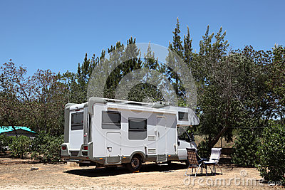 Motorhome on a camping site