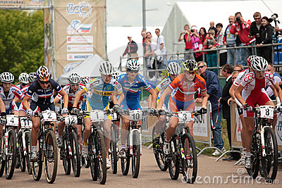 European Mountain Bike Cross-Country Championships Editorial Stock Image