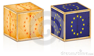 European old boxes