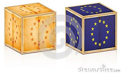 European old boxes