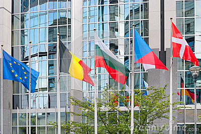 European Parliament building in Brussels