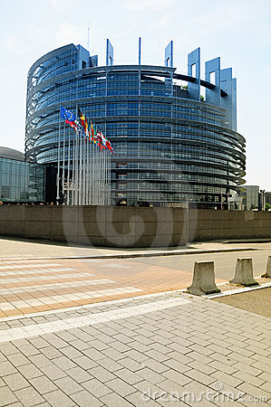The European Parliament building in Strasbourg Editorial Stock Photo