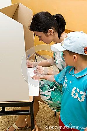 European Parliament election, 2014 (Poland) Editorial Photography