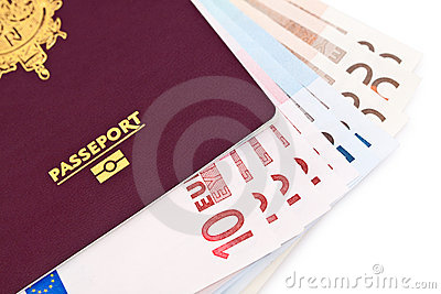 European passport and money