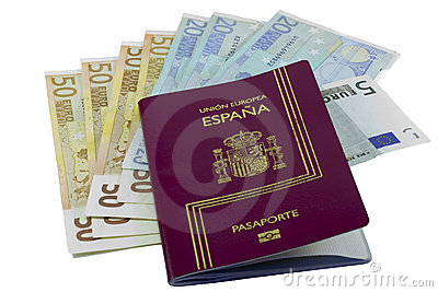 European passport and money