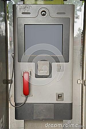 European phone booth