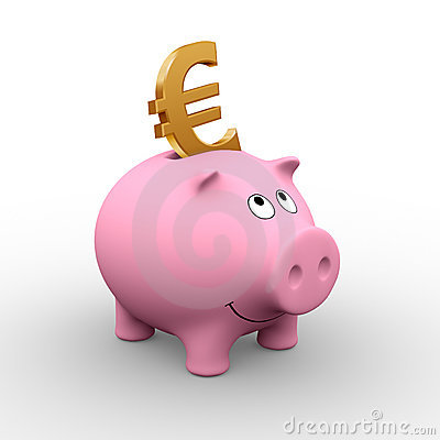 Free European Piggy Bank Stock Photography - 572232