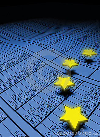 European stars over the spreadsheet