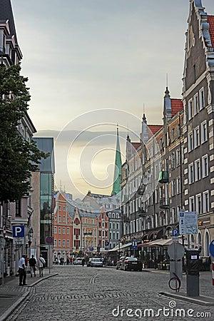 European street Editorial Stock Photo