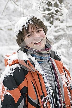 Free European Teens Boy In Scarf Stock Photo - 5322120
